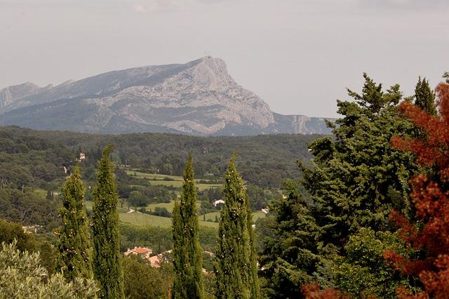 Paysage Sud de France Cezanne
