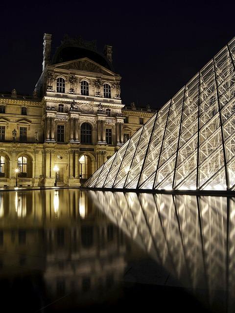 Le Musée du Louvre le soir