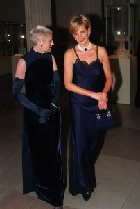 Diana, Princess of Wales, with Liz Tilberis, one of the event's  co-chairs.